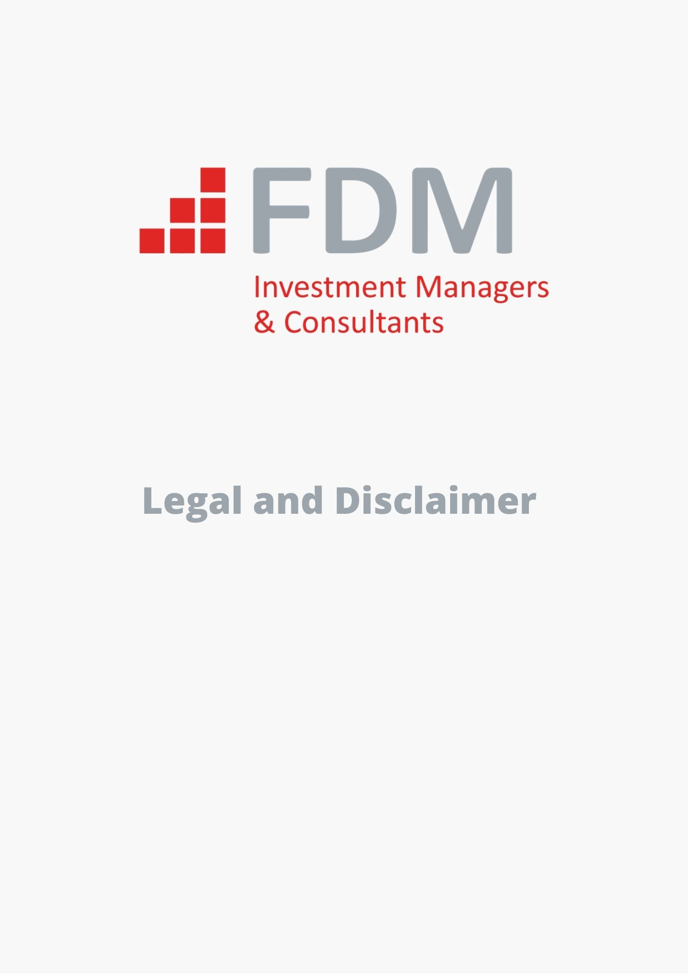 FDM Legal and Disclaimer